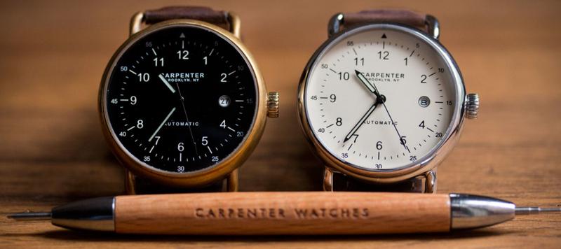 Carpenter Watches Launches on Kickstarter