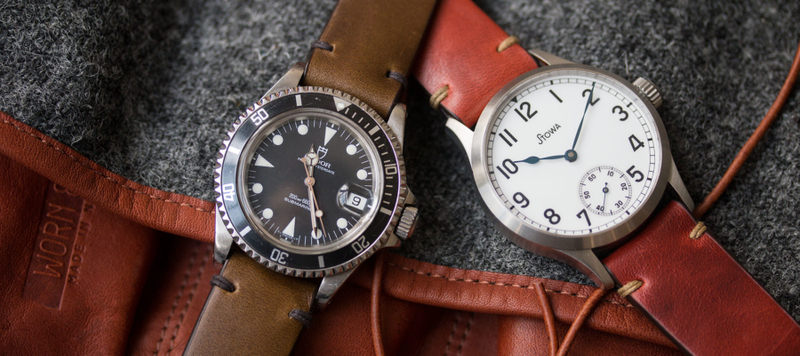 Introducing Model 2 Premium Moss and Crimson Chromexcel Straps by worn&wound