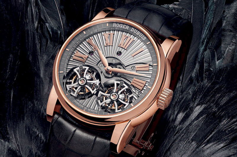 Roger Dubuis Hommage Double Flying Tourbillon with Hand-made Guilloche Dial