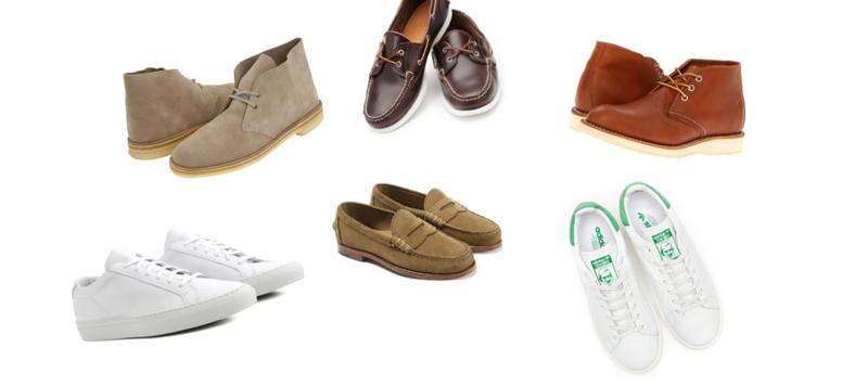 Spring Wardrobe: Footwear Guide Featuring Common Projects, Vans, Clarks, and More