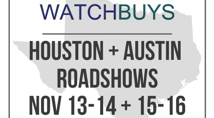 WatchBuys German Road Shows in Houston and Austin – Register Now