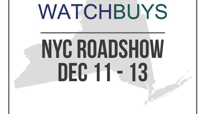 Watchbuys Roadshow NYC DEC 2015 – Registration Now Open